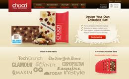 chocri定制巧克力棒网站