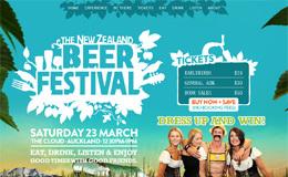 新西兰啤酒节网站