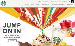 Starbucks咖啡韓國網站