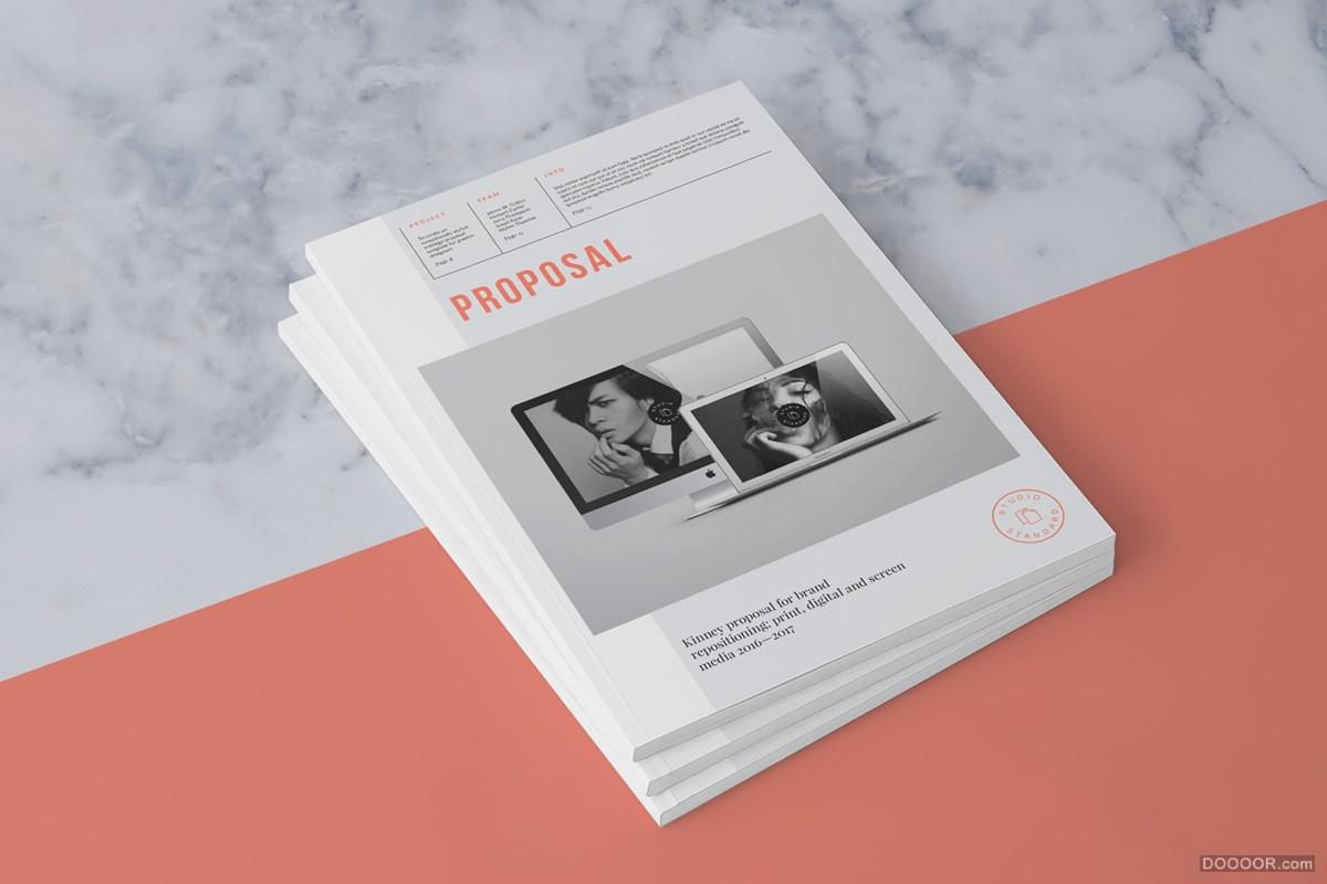 极简主义橘粉色女性风格画册设计 [36] B