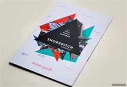 时尚画册中的三角形排版案例Shoreditch