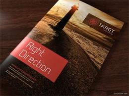 TARGT黑金與暗紅打造尊貴企業畫冊
