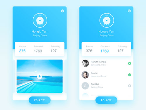 APP用户中心排版设计创意合集