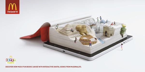 麦当劳 书卷午餐HAPPY READERS系列创意广告欣赏