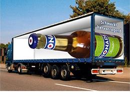 卡车车厢错觉系创意广告欣赏