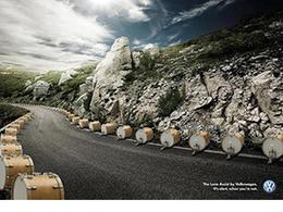 大眾汽車類創意廣告設計欣賞