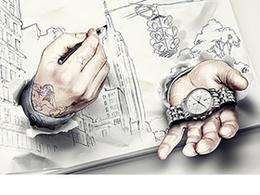 鐘表雜志攝影與插畫結合創意廣告表現手法