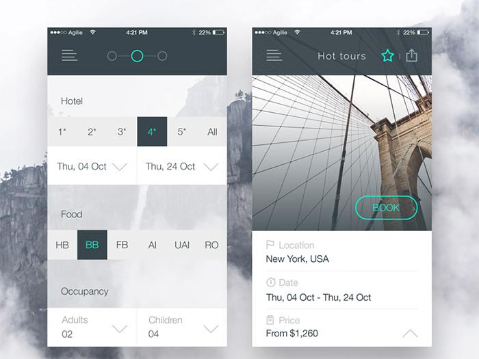 旅游App界面UI设计欣赏