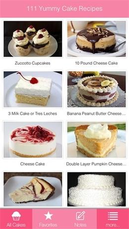 111美味蛋糕食谱