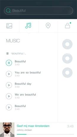 音乐播放列表页设计