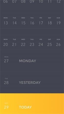 Peek Calendar日历应用界面设计