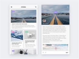 40個創意新聞APP界面UI設計
