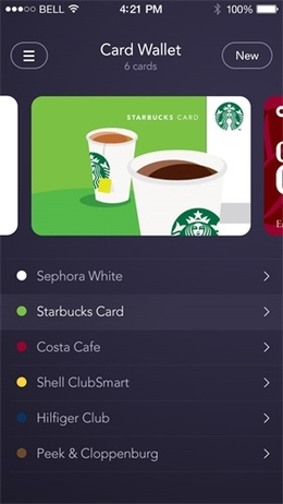 Card Wallet卡片列表页面设计
