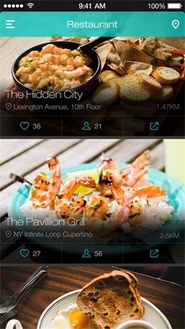 餐厅应用列表页设计