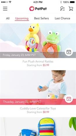 PatPat App列表页界面设计