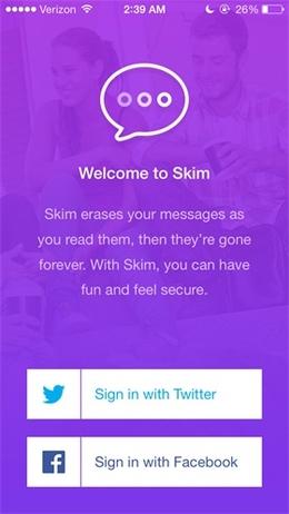 Skim社交应用ios7风格