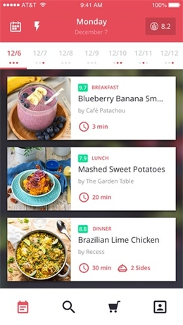 餐饮应用程序列表页设计