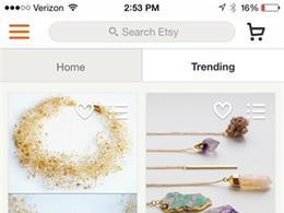 Etsy生活购物应用界面设计