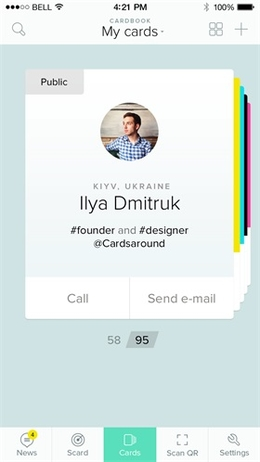 ios个人信息卡片界面设计