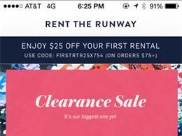 Rent The Runway服饰租赁应用手机界面设计