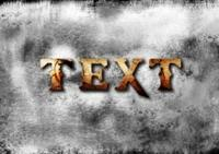 在photoshop中创建关于第三次世界大战的裂纹文字效果