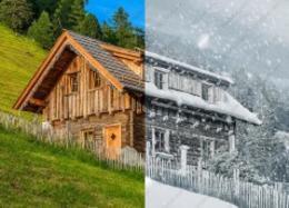用PS将夏季山腰小屋变成冬天雪地效果英文视频教程[1080P]