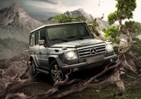 在photoshop中设计一个奔驰汽车广告的海报