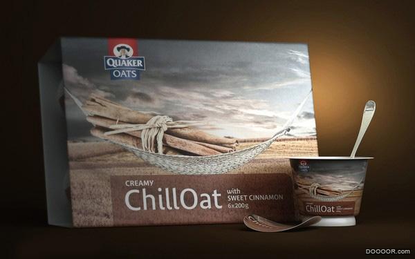 桂格冷冻奶油燕麦小吃包装设计