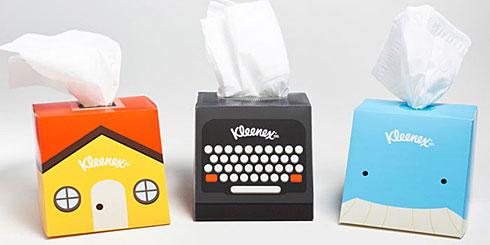 廉价却创意卡通风格方形纸巾盒包装欣赏