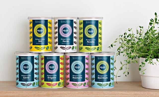 挪威设计公司Uniform太阳神绿系列色天然有机食品包装设计欣