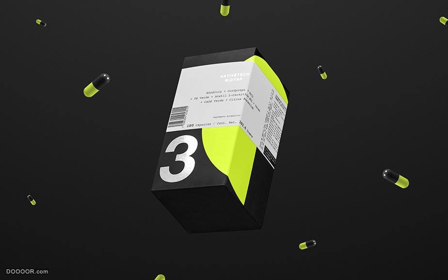 运动员营养品补充剂包装设计-Anagrama