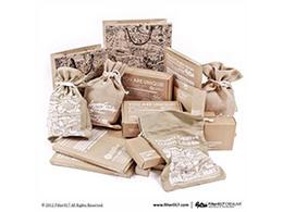 素雅麻布印花包裝袋-盒設計