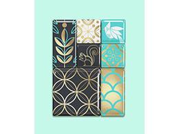 辰鸟整合漂亮花样底纹的包装盒设计
