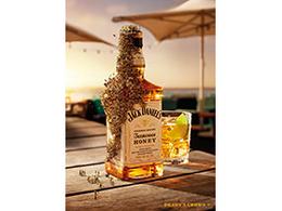 杰克丹尼蜂蜜包装瓶3D效果图设计