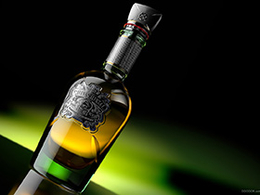 Andre Caputo三款质感霸气洋酒包装瓶设计与渲染