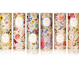 彩色花朵花纹包装设计-Crabtre
