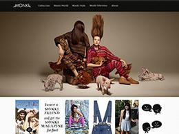 瑞典Monki女装网页设计欣赏