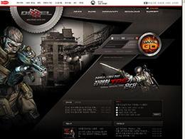DIZZEL韩国黑色质感游戏网站设计欣赏