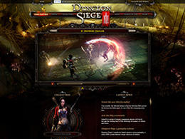 DUNGEON SIEGE III 地牢围攻3 游戏官网页面设计欣赏