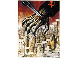 二战老海报-法西斯丑化苏维埃