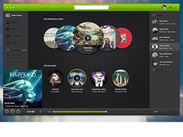 灰绿色的音乐播放器UI界面设计
