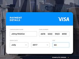 信用卡付款UI界面设计