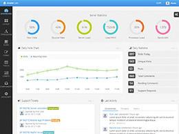 蓝、黑、灰色搭配的后台管理系统界面设计欣赏