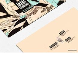 KUROSAWA品牌唯美配色卡片与折页设计