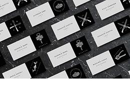 黑色黎明-五月黑色名片设计搜集