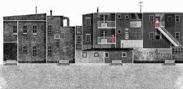 Francesco Giustozzi插畫作品:城市的街道