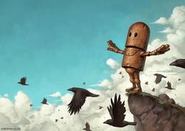 Matt Dixon可愛機器人插畫