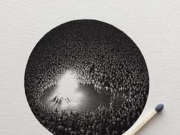 Mateo Pizarro微型黑白插画设计