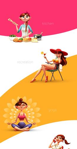 白俄羅斯Sergey女孩角色插畫設計