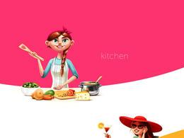 白俄罗斯Sergey女孩角色插画设计